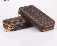 new 2014 women messenger bags women wallets women clutch  Classic presbyopic double long letters grain wallet