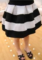 In Stock Children's Skirt black white striped Autumn baby girl kids fashion skirts High Quality Female Child Pettiskirt