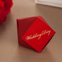 2014 Hot sale Freeshipping customization wedding candy box bags favour sugar box red CB3122