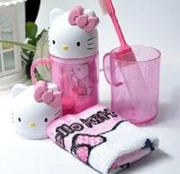 Cartoon Hello Kitty Children's Travel Wash 3-Piece Set Cup+Toothbrush+Towel Toiletries Wash