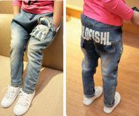 Denim boy jeans Spring 2014 brand designer jeans boys pants casual fashion children pants boys jeans free shpping kids pants