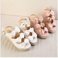 Free shipping women sandals 2014 summer new sweet bow fish head high-heels sandals platform pumps