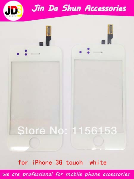 Wholesale Replacement LCD Touch Screen Glass Digitizer for iPhone 3G white Free Shipping(China (Mainland))
