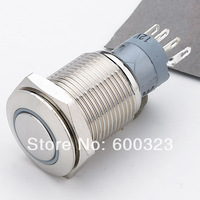 Illuminated Latching Stainless steel pushbutton switch L16F-Z1-S-R-W-5V