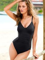 Hot 2014 Sexy piece swimsuit women fashion Rivet brand one piece swimwear S/M/L free shipping