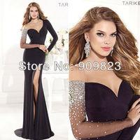 2014 New Sweetheart Long Sleeves Mermaid High Slit Elegant Evening Gowns Dresses New 1406