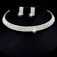 Fast Ship Engagement Wedding Genuine 925 Sterling Silver Jewelry Sets Chain  SW ELEMENT Crystal Necklace Women Accessories