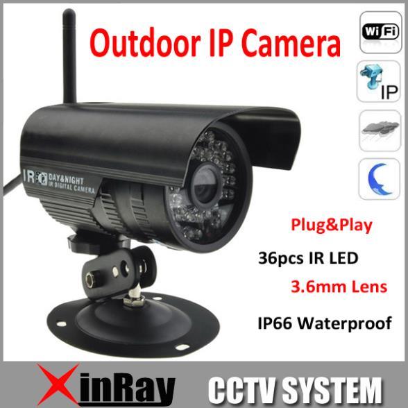 Free shipping 50pcs/lot P2P Plug and Play Wireless IP Camera Free Iphone Android App Software Outdoor IP Camera AP003B(China (Mainland))