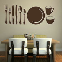 Cutlery Kitchen Wall Sticker Wall Decal Art Mural Wall Poster Home Decor For Kitchen Room