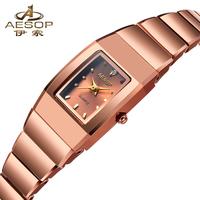Aesop Design Classic Fashion Rose Gold Luxury Women Dress Watches Multifunction Chronograph Women's Quartz Watch 8804