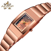 Aesop Design Classic Fashion Rose Gold Luxury Women Dress Watches Multifunction Chronograph Women's Quartz Watch 8804
