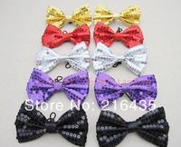 5pcs/lot Paillette bow tie dance magic child general bow tie general bow tie