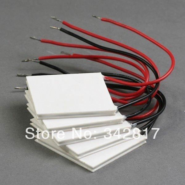 Электродетали China 5pcs/TEC1/12708 DC12V 8A 40 * 40 TEC1 12708 TEC1-12702 tec1 12708 65w semiconductor refrigeration part