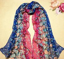 floral print scarf promotion