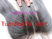 "10-26inch in stock! top 6a quality 3pcs/lot #1b virgin brazilian straight human hair 3 part closure 3.5""X4"" Free Shipping"