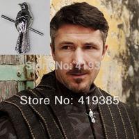 JYJP945 Wholesale Game of Thrones Little Finger Petyr Baelish Mockingbird Pin Brooch Jewelry 24pcs/lot Free shipping