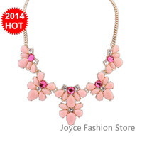 Min Order $10,New 2014 Vintage Fashion Statement Necklaces for Women,sweet Luxury geometry Rhinestone Beads Gem necklaces,N32