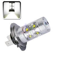 2pcs Cree LED H7 60W Driving Lamp White car Fog Head Bulb auto Vehicles  Turn Signal Reverse Tail Lights car light source