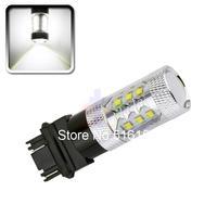 2pcs 3157 3156 80W Cree LED White Lamp car Fog Head Bulb auto Vehicles parking Turn Signal Tail Brake Lights car light source