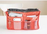 2pcs/lot New Fashion Large Dual Organizer Mp3 Phone Cosmetic Book Storage Nylon Bag Handbag Purse Free Shipping