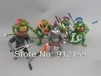 Whoelsale NEW 11cm Classics anime Teenage mutant ninja turtles party supplies action figure toys 30 sets ( 1set=6pcs) Wholesale