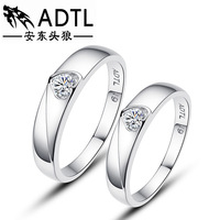925 sterling silver jewelry Loving couple ring buddhist monastic discipline Han edition presents small gifts