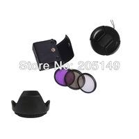 72mm UV+CPL+FLD Lens Filter+lens cap+len hood for CANON XL2 XL1S XL1 free shipping