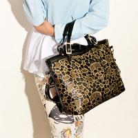 2014 women's new fashion PU leather handbag lace pirate skull patchwork vitage shoulder bag cross-body handbags tote