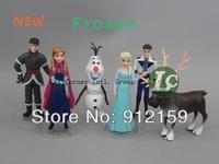Free Shipping NEW 6pcs/set Big Size Frozen Anna Elsa Hans Kristoff Sven Olaf PVC Action Figures Toys Classic Toys