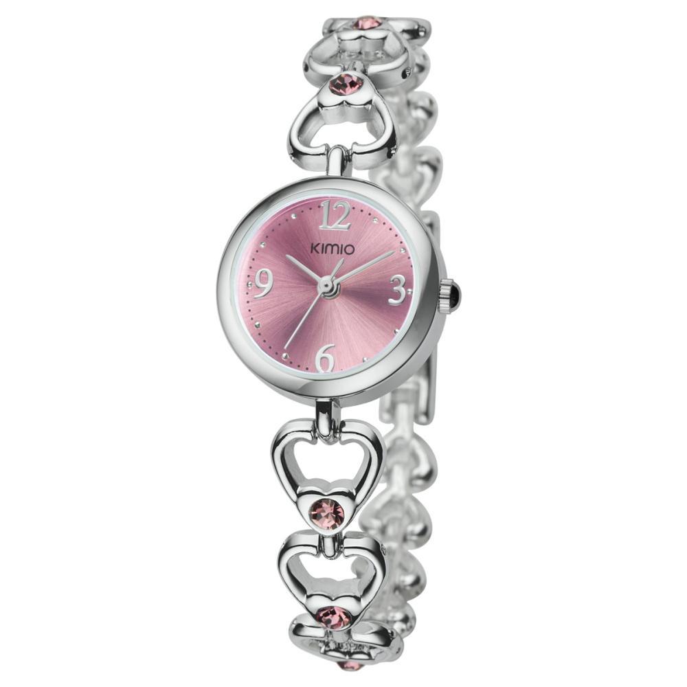 quartz fashion bracelet elegant rhinestone watch for ladies