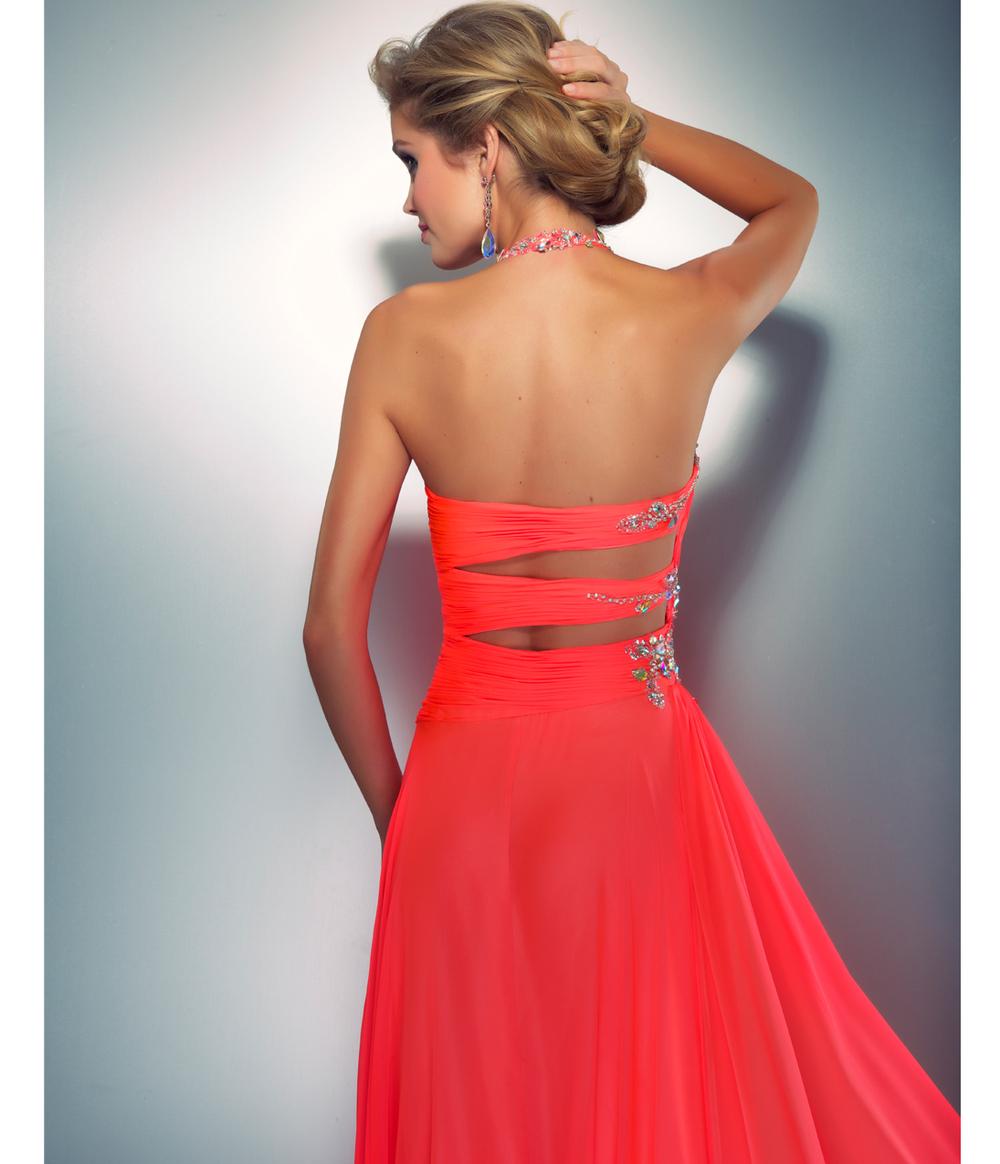 Neon Coral Bridesmaid Dresses