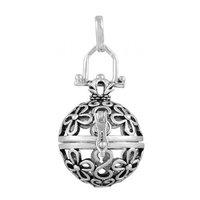 5PICS/lot Wholesales ancient silver daisy Locket Pendant fit for 18mm harmony bola 5H060