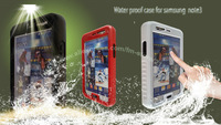20pcs/lot.DHL Free.PX-8 Durable Waterproof Shockproof Dirt Snow Proof Cover Case for Samsung Galaxy Note 2 N7100 Note 3 N9000