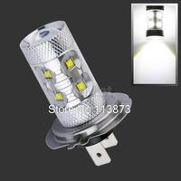 2pcs Cree LED H7 60W Driving Lamp White car Fog Head Bulb auto Vehicles  Turn Signal  Tail Lights car light source parking