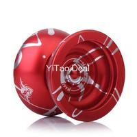 Free shipping 2014 NEW Version Magic YOYO  Red and silver N11 Alloy Aluminum Professional Yo-Yo YoYo Toy