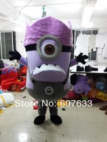 Costum Made Despicable Me 2 Evil Minions Crazy Demented Mascot Costume Cartoon Character Mascot Costumes Fancy Dress Adult Size