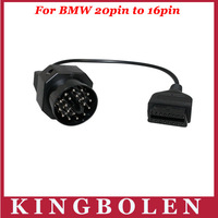 2014 High Quality 20 Pin to 16 Pin OBD 2 Diagnostic Adapter for BMW With 2 Years Warranty