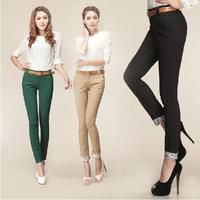 Fast Free Shipping Spring Skinny Korean Fashion Slim Ladies Capris Pants For Women Summer Casual Trousers Women