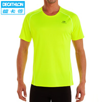 Quick-drying T-shirt man bigger sizes quick dry sweat permeability Outdoor running KALENJI with short sleeves