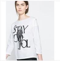 2014 spring and summer women's fashion lady slim basic shirt plus size half sleeve t-shirt  free shipping