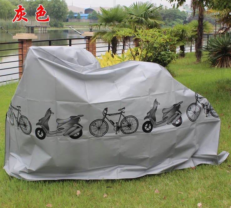 Bicycle sun cover sun-shading thickening rain cover folding bike electric bicycle mountain bike dust cover car cover(China (Mainland))