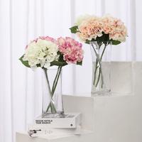 Brief glass vase kupper fashion vase square cylinder flower decoration