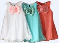 HoT sale Available supernova sale party summer cute flower girl dresses 3~7age girl dress brand kids baby clothing free shipping
