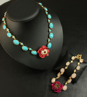 Wholesale, New, Pearl, Crystal, Resin, Synthetic Stones, Flowers Bib Necklace. Free Shipping