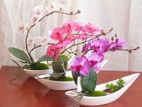 Artificial flower set water artificial orchid artificial flower dried flowers silk flower small bonsai set bowyer
