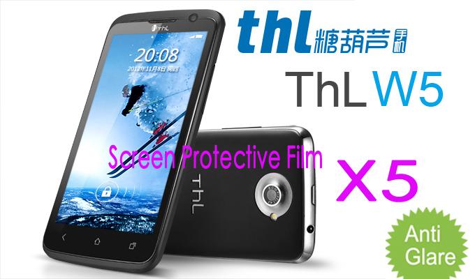 Free Shipping Original THL W5 MTK6577 Screen Potector film,Matte Anti-glare Mobile Phone THL w5 Screen Protective Film(China (Mainland))