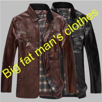 2014 Korean men's large size genuine leather jacket coat men's genuine leather Motorcycle jacket coat men big size coat 5XL-8XL