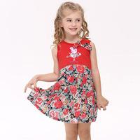 2014 Floral Girls Dress Brand Nova Summer peppa pig girls sleeveless dress Kids peppa pig clothing set