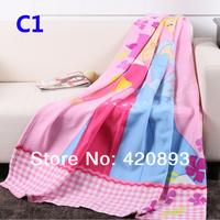 Wholesale 3 pcs/Lot 125X150 250GSM Baby Coral Fleece Blanket Baby Swadding Child Blanket Summer Blanket Cartoon Blanket  Throw