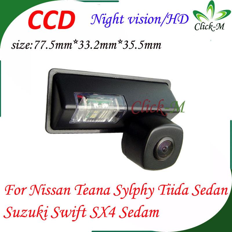 for Nissan Teana Sylphy Tiida Sedan Suzuki Swift SX4 Sedam car rear view camera CCD HD parking reverse camera(China (Mainland))